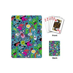 Monster Party Pattern Playing Cards (mini)