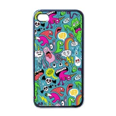 Monster Party Pattern Apple iPhone 4 Case (Black)
