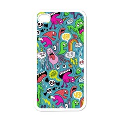 Monster Party Pattern Apple Iphone 4 Case (white)
