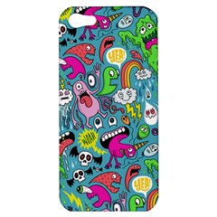 Monster Party Pattern Apple Iphone 5 Hardshell Case