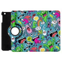 Monster Party Pattern Apple Ipad Mini Flip 360 Case