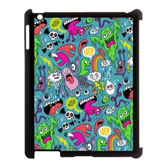 Monster Party Pattern Apple Ipad 3/4 Case (black)