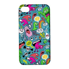 Monster Party Pattern Apple iPhone 4/4S Hardshell Case with Stand