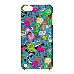 Monster Party Pattern Apple Ipod Touch 5 Hardshell Case With Stand