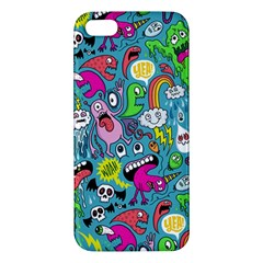 Monster Party Pattern Apple Iphone 5 Premium Hardshell Case