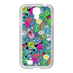 Monster Party Pattern Samsung Galaxy S4 I9500/ I9505 Case (white)