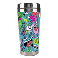 Monster Party Pattern Stainless Steel Travel Tumblers