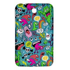 Monster Party Pattern Samsung Galaxy Tab 3 (7 ) P3200 Hardshell Case