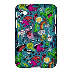 Monster Party Pattern Samsung Galaxy Tab 2 (7 ) P3100 Hardshell Case