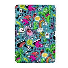 Monster Party Pattern Samsung Galaxy Tab 2 (10.1 ) P5100 Hardshell Case