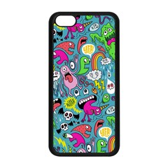 Monster Party Pattern Apple Iphone 5c Seamless Case (black)