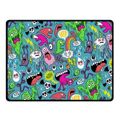 Monster Party Pattern Double Sided Fleece Blanket (Small)