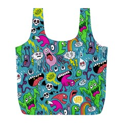 Monster Party Pattern Full Print Recycle Bags (l)