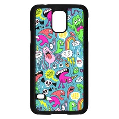 Monster Party Pattern Samsung Galaxy S5 Case (Black)