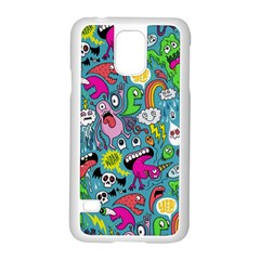 Monster Party Pattern Samsung Galaxy S5 Case (White)