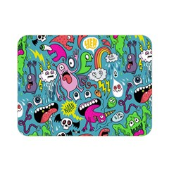 Monster Party Pattern Double Sided Flano Blanket (mini)