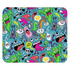 Monster Party Pattern Double Sided Flano Blanket (Small)