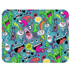 Monster Party Pattern Double Sided Flano Blanket (medium)