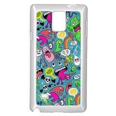 Monster Party Pattern Samsung Galaxy Note 4 Case (White)