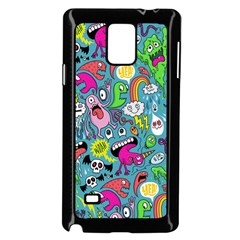 Monster Party Pattern Samsung Galaxy Note 4 Case (Black)