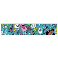 Monster Party Pattern Flano Scarf (small)