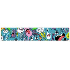 Monster Party Pattern Flano Scarf (Large)