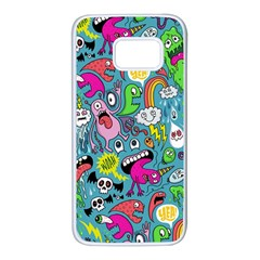 Monster Party Pattern Samsung Galaxy S7 White Seamless Case