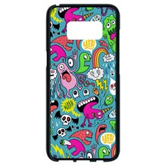 Monster Party Pattern Samsung Galaxy S8 Black Seamless Case