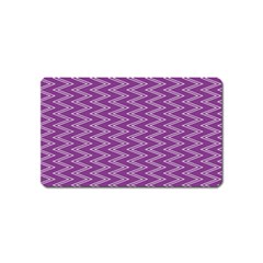 Zig Zag Background Purple Magnet (name Card)
