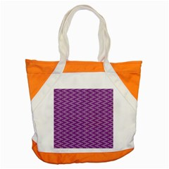 Zig Zag Background Purple Accent Tote Bag