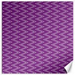 Zig Zag Background Purple Canvas 12  x 12