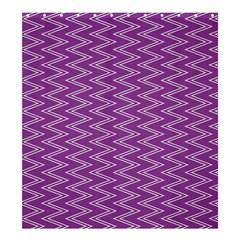 Zig Zag Background Purple Shower Curtain 66  X 72  (large)
