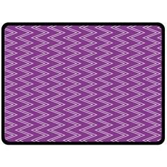 Zig Zag Background Purple Fleece Blanket (Large)