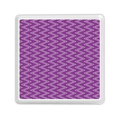 Zig Zag Background Purple Memory Card Reader (square)