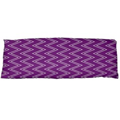 Zig Zag Background Purple Body Pillow Case Dakimakura (two Sides)