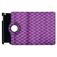 Zig Zag Background Purple Apple Ipad 3/4 Flip 360 Case