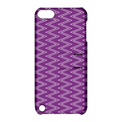 Zig Zag Background Purple Apple iPod Touch 5 Hardshell Case with Stand