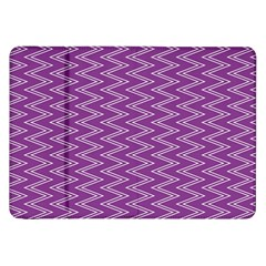 Zig Zag Background Purple Samsung Galaxy Tab 8 9  P7300 Flip Case