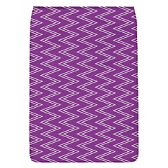 Zig Zag Background Purple Flap Covers (S)