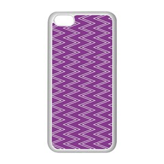Zig Zag Background Purple Apple iPhone 5C Seamless Case (White)