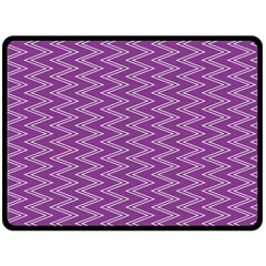 Zig Zag Background Purple Double Sided Fleece Blanket (Large)