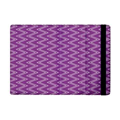 Zig Zag Background Purple iPad Mini 2 Flip Cases