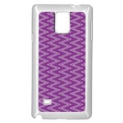 Zig Zag Background Purple Samsung Galaxy Note 4 Case (White)
