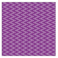 Zig Zag Background Purple Large Satin Scarf (Square)