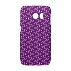 Zig Zag Background Purple Galaxy S6 Edge