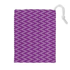 Zig Zag Background Purple Drawstring Pouches (extra Large)
