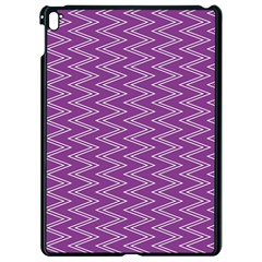Zig Zag Background Purple Apple Ipad Pro 9 7   Black Seamless Case