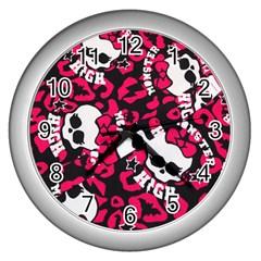 Mattel Monster Pattern Wall Clocks (silver)