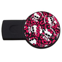 Mattel Monster Pattern Usb Flash Drive Round (4 Gb)