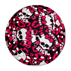 Mattel Monster Pattern Round Filigree Ornament (two Sides)